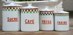 Beautiful Ceramic Vintage French canister set by ChalkFarmHome, $195.00