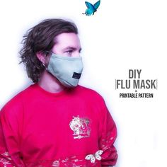 Flu Mask DIY + Printable Pattern  <br> Bat Mask, Filter, The Face, Cute Snowman, Mask For Kids, Diy Face Mask, Face Masks, New Trends, Diy For Kids