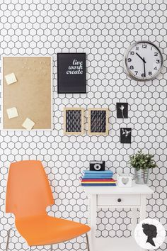Peel and Stick Honeycomb Pattern Removable Wallpaper D203 by Livettes on Etsy https://www.etsy.com/listing/179186544/peel-and-stick-honeycomb-pattern