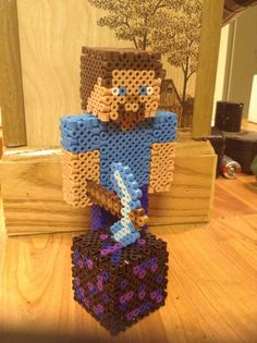 3D Custom Minecraft Skin Perler beads by Soranoo on Etsy