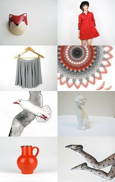 Touch of Red by XenaStyle on Etsy--Pinned with TreasuryPin.com