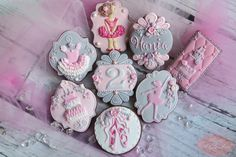 Ballerina Birthday Cookie Set | Cookie Connection