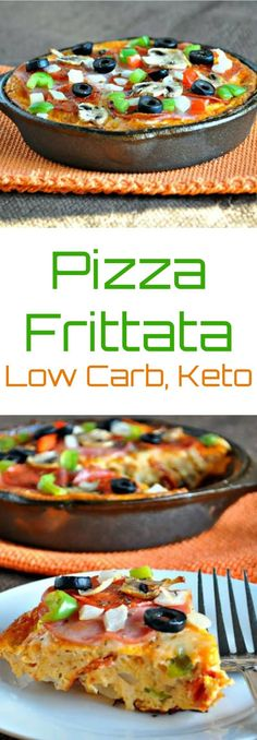 Pizza Frittata – Low Carb, Gluten-Free via @PeaceLoveLoCarb