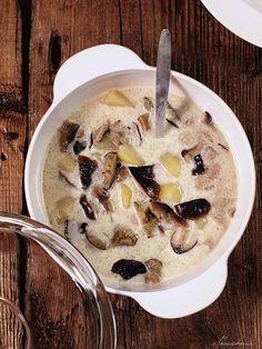 Zupa z gąsek z ziemniakami