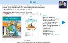 Kennismaken met Braille, het leven van Louis Braille en blindzijn. Les inclusief een hoofdstuk uit het boek Brief in Geheimschrift. De les is geschikt als introductie bij een les over Braille. Geschikt voor de leraar, maar ook voor de leerling als informatiebron voor werkstuk of spreekbeurt.
