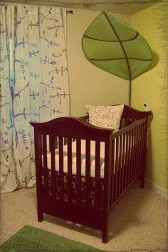 crib & leaf canopy
