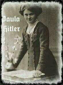 Paula Hitler (1896-1960) Hermana y único familiar de Hitler que sobrevivió a la guerra. Nunca simpatizó con el nazismo.