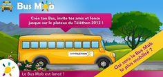 Les BusMobs continuent d'avancer à une allure folle ! Arriverez-vous à propulser votre BusMob en 1re place ?    Par ici pour soutenir le bus de vos amis + créer votre propre BusMob et foncer vers le Téléthon 2012