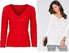 czerwony sweter na Feegle Tunic Tops, Women, Fashion, Moda, Fashion Styles, Fashion Illustrations, Woman