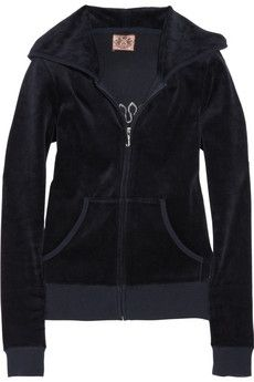 Juicy Couture | Crystal-embellished velour hooded top | NET-A-PORTER.COM - StyleSays