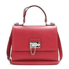 b6218218eece2 A ladylike tote with vintage appeal  Dolce   Gabbana s  Monica  is a blend  of rich Italian flair and luxe craftsmanship. The searing red leather  complements ...