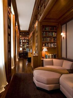 This designer takes reading seriously, but it feels a bit too much like a library, rather than a home