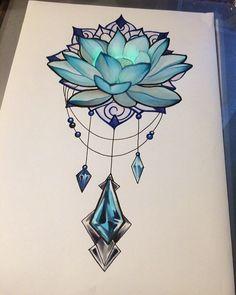Artist: @olga_kai_tattoo (Instagram) #lotus #lotustattoo #blulotus #lotusflower Artist: @olga_kai_tattoo (Instagram) #lotus #lotustattoo #blulotus