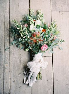 rustic bouquet wrapped in a white handkerchief. Photography by Steve Steinhardt Photography Boho Wedding, Floral Wedding, Wedding Bouquets, Rustic Wedding, Wedding Flowers, Wedding Ideas, Trendy Wedding, Wedding Ceremony, Wedding Photos