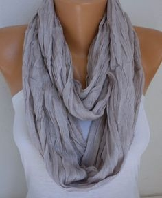 Spring Cotton Infinity Scarf Mother's Day Gift Summer by fatwoman