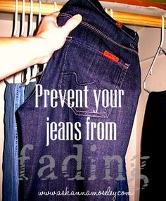 How to Prevent Jeans from Fading -- Ask Anna