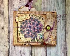 Vintage style hydrangea booklet for junk journal or stash book Scrapbook Journal, Travel Scrapbook, Vintage Crafts, Vintage Books, Paper Art, Paper Crafts, Hydrangea Colors, Junk Journal, Journal Art