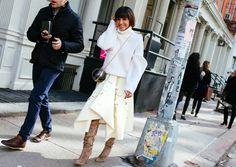 //// Phil Oh's Best Street Style Pics From New York Fashion Week Fall 2016 //// Princess Deena Aljuhani Abdulaziz with a Kuwaiti bag