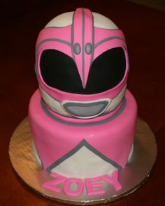 Pink Power Ranger cake by KB Cakes www.kbcakes.me