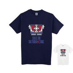 XS-XL White/Navy [Sailor Moon] Sailor Saturn Cube Tee Shirt CP153306
