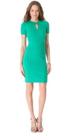 DVF emerald dress