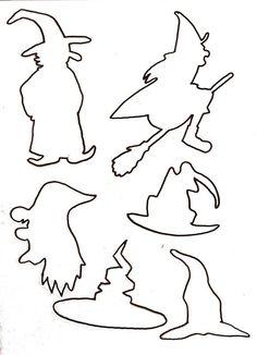 Gabarit – Halloween pour tableau feutrine – Template – Halloween for felt board – Moldes Halloween, Casa Halloween, Halloween Templates, Theme Halloween, Bricolage Halloween, Adornos Halloween, Halloween Tags, Halloween Crafts For Kids, Halloween Coloring