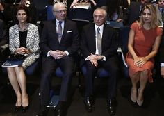 Queen Silvia, King Carl XVI Gustaf, Brazil's President Michel Temer and his wife Marcela.    4-4-2017