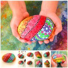 DIY Piedras pintadas sujeta puertas de PiedraCreativa Horseshoe Crafts, Stone Art, Floral, Diy, Artist, Rocks, Painting, Cactus, Google
