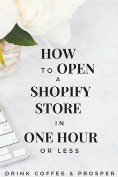 How to open an online store, start to finish in 1 hour or less-find out how!