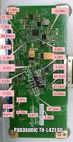 Panasonic T con voltage Diy Electronics, Electronics Projects, Electronics Components, Componentes Smd, Sony Led Tv, Panasonic Tvs, Crt Tv, Design Innovation, Electronic Circuit Projects