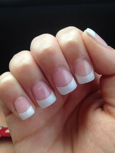 Pin by Fmag on solar nails , Solar nails, White nails solar nails - Nails Manicure French, Manicure Gel, French Tip Acrylic Nails, French Tip Nail Designs, White Tip Nails, Square Acrylic Nails, White Acrylic Nails, White Nail Designs, Acrylic Nail Designs