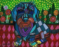 50% OFF Storewide- Dachshund Art, Dachshund print, Dachshund Painting, Dachshund Gift, Doxie Dachshund Abstract, Dachshund Decor