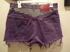 les rebelles doux.: DIY: Dyed and Studded Shorts Pt. 2
