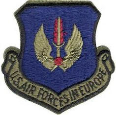 United States Air Forces in Europe (USAFE) patch.  Proud to have served 2 years in Italy.  One of my best assignments.