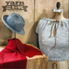 Shark Bite Edge Scarf and Draw-String Pullover #knit with #yarnandsoul #superfine400 #diy #createyourownstory www.yarnandsoul.com