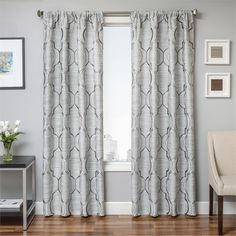 tryst curtain panels in gunmetal grey grommets back tabs and lining interlining available. Black Bedroom Furniture Sets. Home Design Ideas