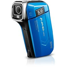 Dxg USA Megapixel High-Definition Quickshots Digital Video Camera - Blue HD (Discontinued by Manufacturer) Top Videos, Video Camera, Camcorder, Night Vision, Creative Design, Cool Things To Buy, Technology, Digital, High Definition
