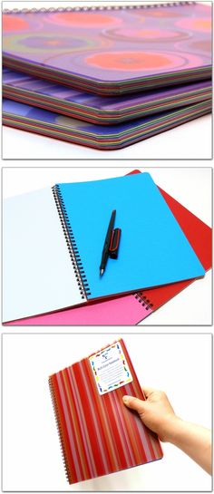 Clairefontaine Multiple Subject Notebook - Large Journals - color lined paper