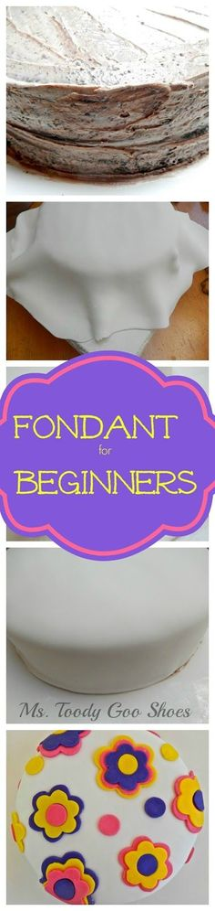 Working With Fondant: A Piece of Cake! How To Decorate a Cake with Fondant for Beginners -- Ms. Cake Decorating Techniques, Cake Decorating Tutorials, Cookie Decorating, Decorating Cakes, Decorating Ideas, Fondant Tips, Fondant Cakes, Cupcake Cakes, Fondant Toppers