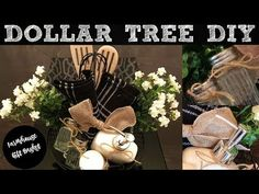 This is a step-by-step guide on how to make a farmhouse gift basket using all products from The Dollar Tree. Dollar Tree Baskets, Dollar Tree Gifts, Dollar Tree Christmas, Christmas On A Budget, Mother's Day Gift Baskets, Christmas Gift Baskets, Diy Christmas Gifts, Raffle Baskets, Arts And Crafts For Adults