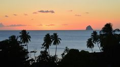 Coucher de soleil sur le rocher du #Diamant. #Martinique #Antilles #France