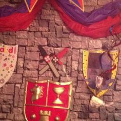 Castle party wall decor