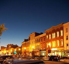 Georgetown is on the National Register and it is also a National Historic Landmark district. Georgetown Washington Dc, Washington Dc City, Oh The Places You'll Go, Places Ive Been, Places To Visit, Dc Travel, Historic Homes, Night Life, The Neighbourhood