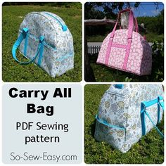 So Sew Easy Carry All Bag - PDF Sewing pattern - weekender or carry-on luggage