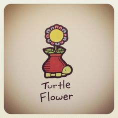 Turtle Flower #turtleadayjune - @turtlewayne- #webstagram
