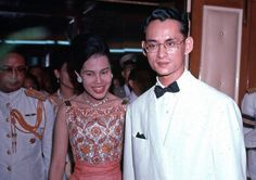 Queen Sirikit and King Bhumibol have been together for an amazing 65 years. In April of 1950, the couple tied the knot at Sra Pathum Palace in Bangkok.