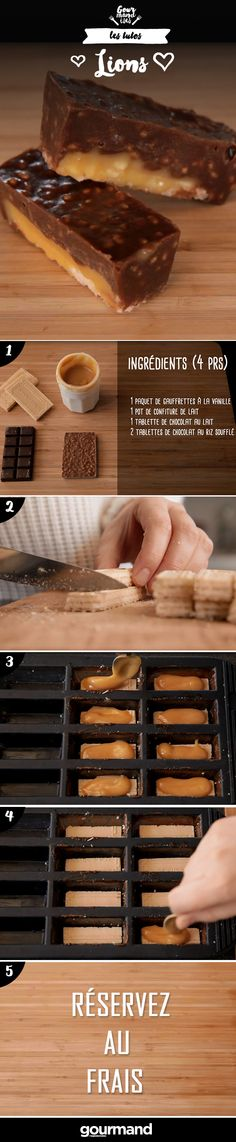 We summarize: Cut your wafers to the size of your mold. Melt your milk chocolate. Sweet Recipes, Cake Recipes, Dessert Recipes, Delicious Desserts, Yummy Food, Dessert Cookbooks, Galletas Cookies, Granola, Flan