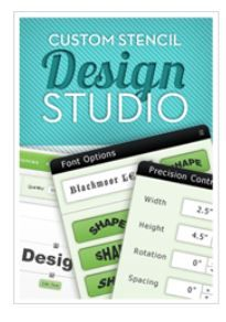 Try our custom stencil design studio.  Design your own with text and stock graphics, receive a proof & instant pricing! www.stencilsonline.com/designer