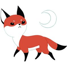 Fox Anime Art Wall Decal Moon Fox by Indre Bankauskaite ($15) ❤ liked on Polyvore featuring home, home decor, wall art, cute, home & living, home décor, silver, wall decals & murals, wall décor and wall stickers