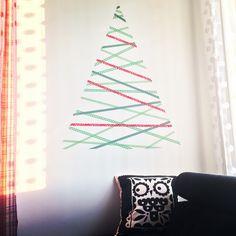 I made a Christmas tree with Washi tape